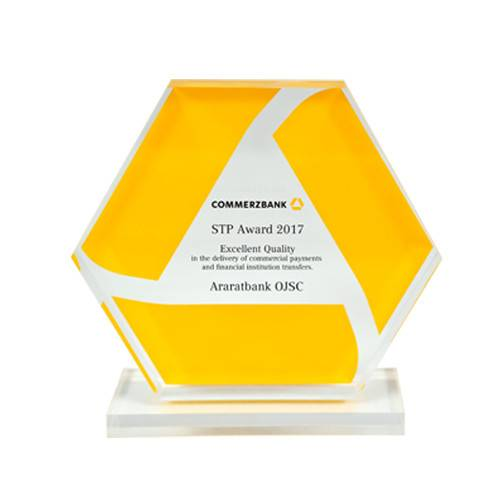 Already fot the sixth year running Commerzbank AG honours ARARATBANK with excellent STP Quallity award