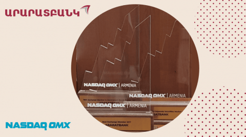 ARARATBANK recognized the best in three nominations by NASDAQ OMX